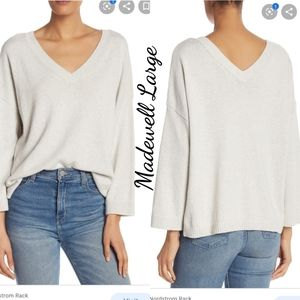 Madewell Lightweight Double-V Pullover Large